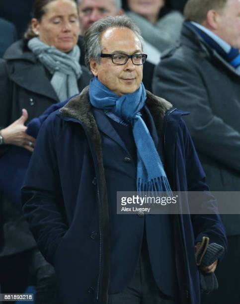 Farhad Moshiri looks on during the Premier League match between Everton and West Ham United at Goodison Park on November 29 2017 in Liverpool England
