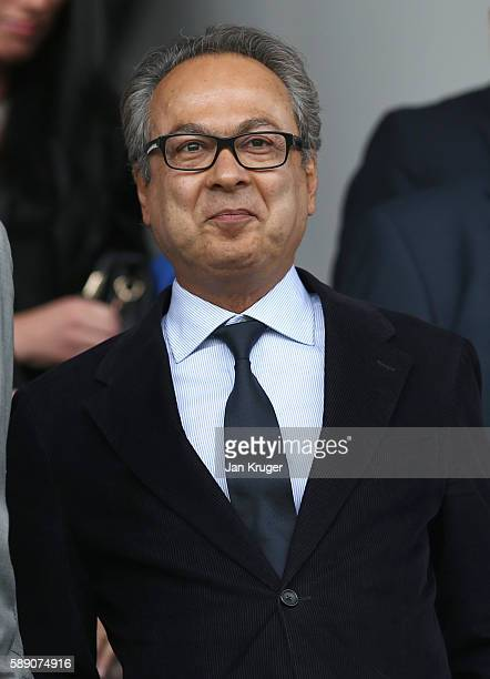 Farhad Moshiri owner of Everton in the stands during the Premier League match between Everton and Tottenham Hotspur at Goodison Park on August 13...