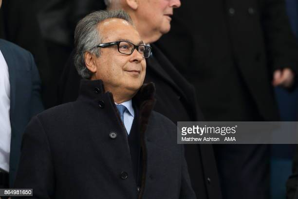 Farhad Moshiri who owns 499% stake in Everton looks on during the Premier League match between Everton and Arsenal at Goodison Park on October 22...