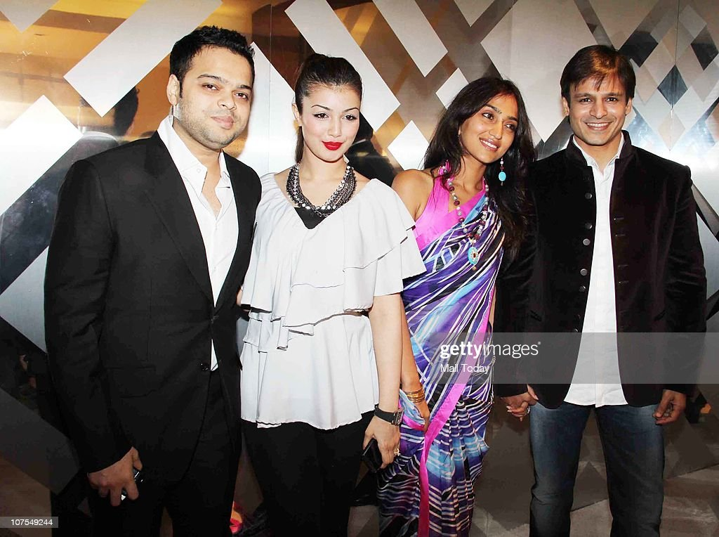 Farhan Azmi Ayesha Takia Priyanka and Vivek Oberoi at an event hosted by Christopher Bailey in Mumbai to celebrate the brand Burberry`s presence in...