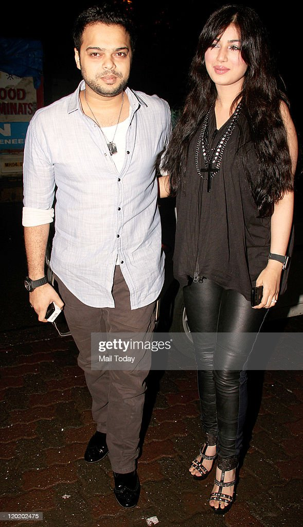 Farhan Azmi with Ayesha Takia arrive during the birthday bash of Arpita Khan at Aurus in Mumbai on July 29 2011