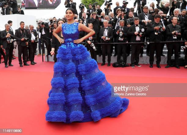 Farhana Bodi attends the opening ceremony and screening of The Dead Don't Die during the 72nd annual Cannes Film Festival on May 14 2019 in Cannes...