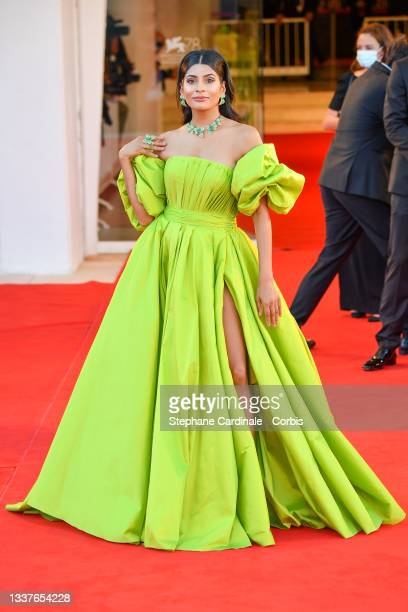 """Farhana Bodi attends the red carpet of the movie """"Madres Paralelas"""" during the 78th Venice International Film Festival on September 01, 2021 in..."""