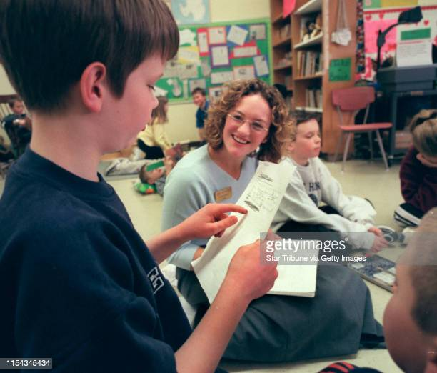 Faribault Mn 2/15/01 Jefferson Elementary school gets phone call from Antarctic explores Ann Bancroft and Liv ArnesonBrogan Johnson left a third...