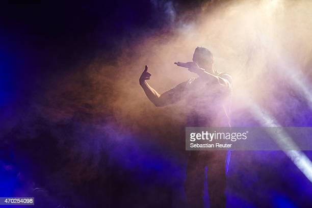 Farid Bang performs at Postbahnhof on April 18 2015 in Berlin Germany
