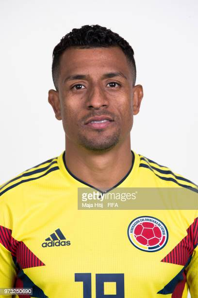 Farid Diaz of Colombia poses for a portrait during the official FIFA World Cup 2018 portrait session at Kazan Ski Resort on June 13 2018 in Kazan...