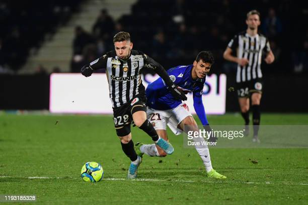 Farid EL MELALI of Angers and DANILO of Nice during the Ligue 1 match between Angers and OGC Nice on January 11 2020 in Angers France