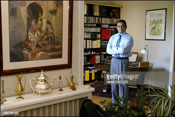 Farid Smahi Regional Councillor Of The IleDeFrance Area And Member Of The French Far Right Wing Party Front National Political Bureau At Home In The...