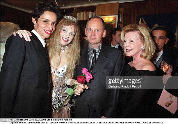 Farida Christophe Girard Claudie Aussar play of Beauty and the Beast at the Comic opera of Paris along with Arielle Dombasle