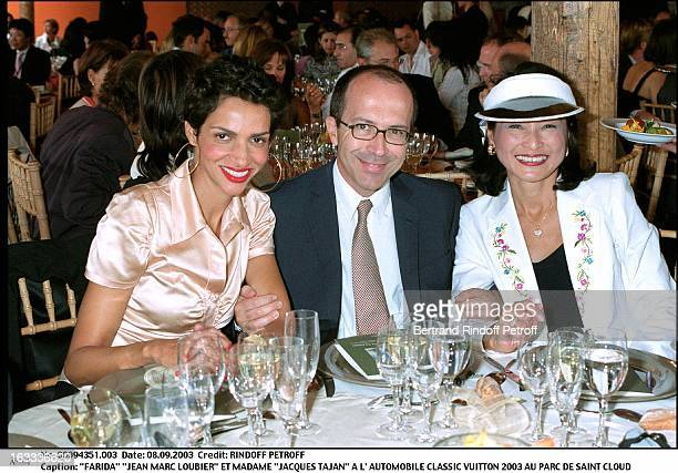 Farida Jean Marc Loubier and Mrs Jacques Tajan at the Classic Automotive Vuitton 2003 at the parc of Saint Cloud
