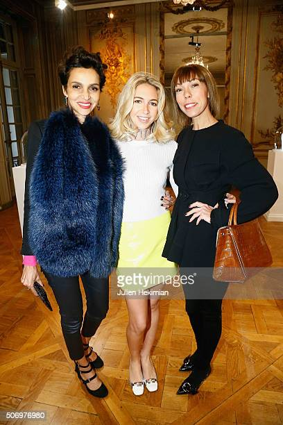 Farida Kelfa Jewelry Designer Sabine Getty and Mathilde Favier attend the 'Memphis' Fine jewelry collection launch as part of Paris Fashion Week at...