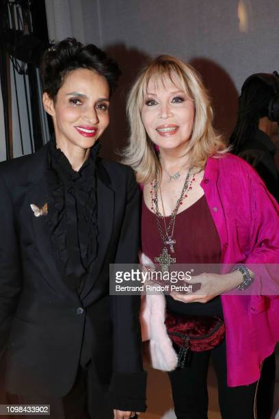 Farida Khelfa and Amanda Lear attend the JeanPaul Gaultier Haute Couture Spring Summer 2019 show as part of Paris Fashion Week on January 23 2019 in...