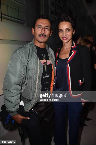 Farida Khelfa and Haider Ackermann attend Fashion Tech Lab launch event hosted by Miroslava Duma and Stella McCartney as part of Paris Fashion Week...