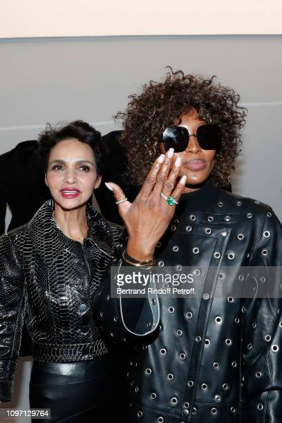 Farida Khelfa and Model Naomi Campbell attend the Tribute To Azzedine Alaia as part of Paris Fashion Week on January 20 2019 in Paris France