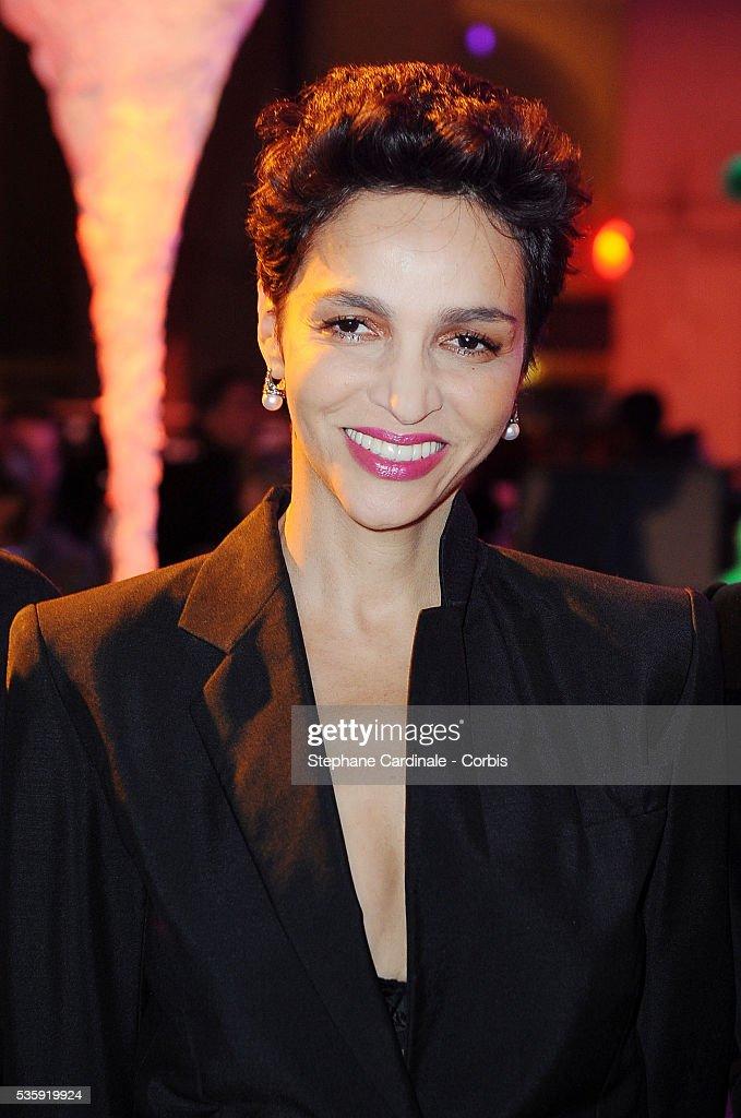 Farida Khelfa attends 'Les Sapins de Noel des Createurs' in Paris.