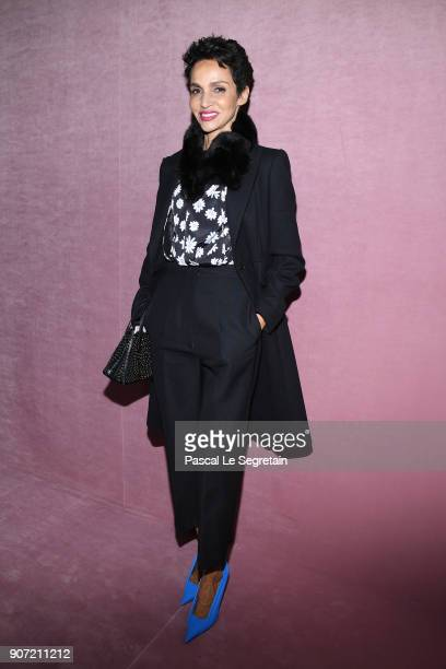 Farida Khelfa attends the Berluti Menswear Fall/Winter 20182019 show as part of Paris Fashion Week on January 19 2018 in Paris France