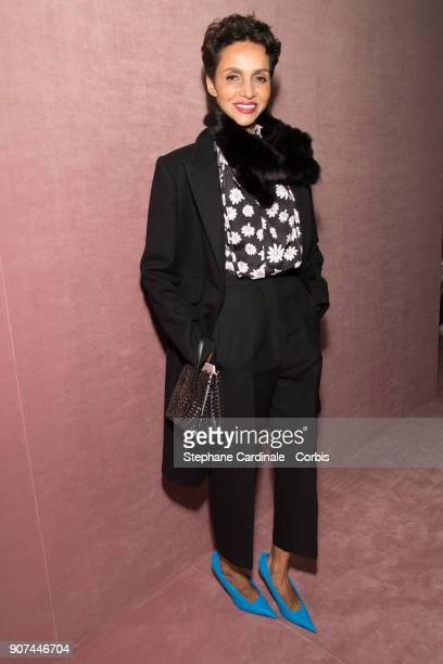 Farida Khelfa attends the Berluti Menswear Fall/Winter 20182019 show as part of Paris Fashion Wee January 19 2018 in Paris France
