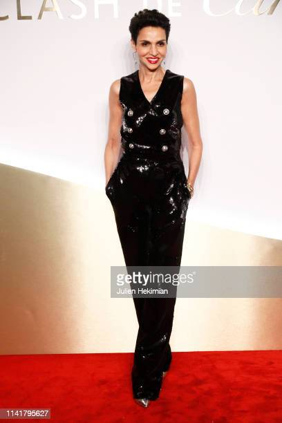 Farida Khelfa attends the 'Clash De Cartier' Launch Photocall At La Conciergerie In Paris on April 10 2019 in Paris France