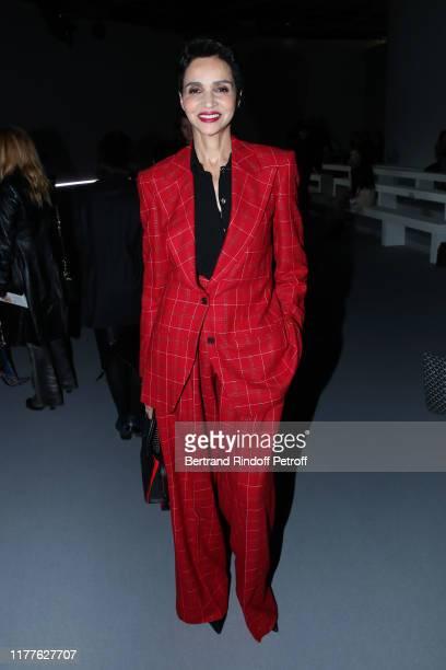 Farida Khelfa attends the Haider Ackermann Womenswear Spring/Summer 2020 show as part of Paris Fashion Week on September 28, 2019 in Paris, France.