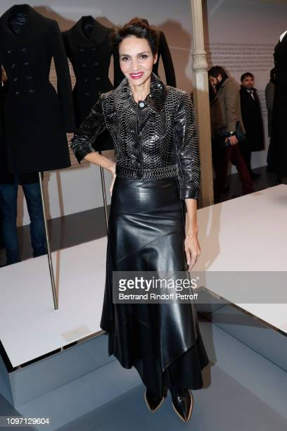Farida Khelfa attends the Tribute To Azzedine Alaia as part of Paris Fashion Week on January 20 2019 in Paris France