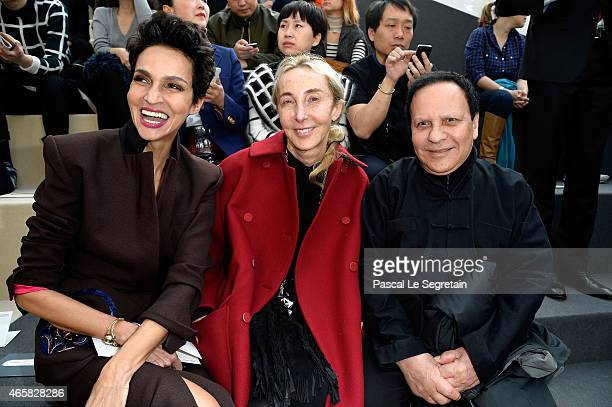 Farida Khelfa Carla Sozzani and designer Azzedine Alaia attend the Louis Vuitton show as part of the Paris Fashion Week Womenswear Fall/Winter...