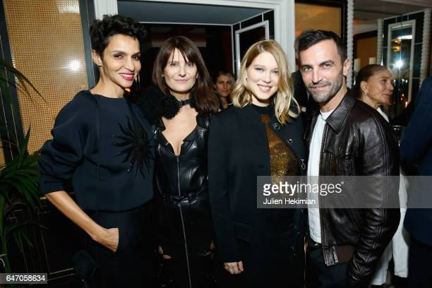 Farida Khelfa MarieAmelie Sauve Lea Seydoux and Nicolas Ghesquiere attend the Mastermind Magazine launch dinner as part of Paris Fashion Week...