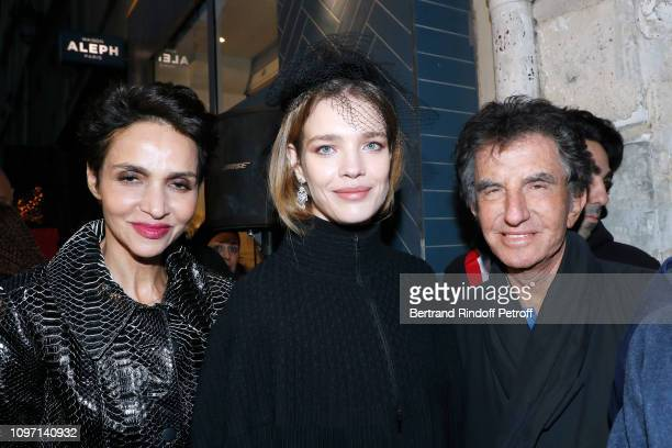Farida Khelfa Natalia Vodianova and Jack lang attend the Tribute To Azzedine Alaia as part of Paris Fashion Week on January 20 2019 in Paris France