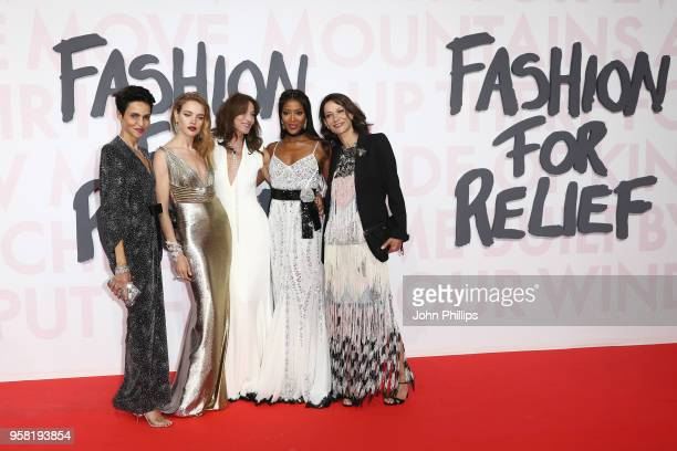 Farida Khelfa Natalia Vodianova Carla Bruni Naomi Campbell and Marpessa Hennink attend Fashion for Relief Cannes 2018 during the 71st annual Cannes...
