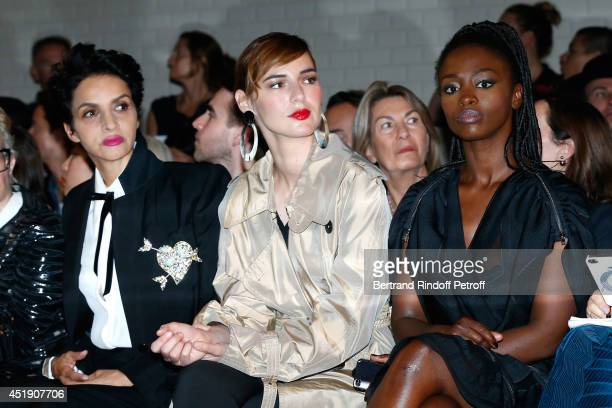 Farida Khelfa Seydoux Louise Bourgoin and Aissa Maiga attend the Jean Paul Gaultier show as part of Paris Fashion Week Haute Couture Fall/Winter...