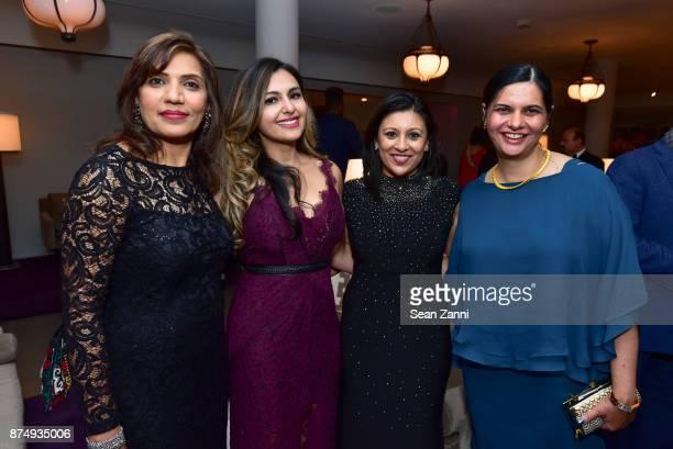 Farida Khemani Dilafruz Khonikboyeva Fatema Sumar and Shaiza Damji attend The Aga Khan Foundation Gala at The Metropolitan Museum of Art on November...