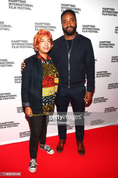 Farihah Zaman and Alexander A Mora attend the Shorts Program during the 2019 Hamptons International Film Festival at United Artists on October 12...