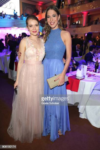 Farina Flebbe and Alana Siegel during the German Film Ball 2018 party at Hotel Bayerischer Hof on January 20 2018 in Munich Germany