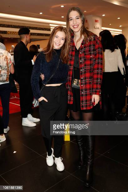 Farina Flebbe and Alana Siegel during the Monaco Baby Goes 030 BUNTE At KaDeWe Berlin on November 15 2018 in Berlin Germany
