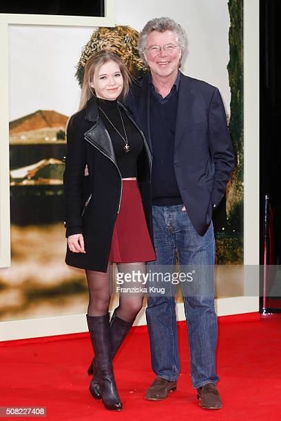 Farina Flebbe and HansJoachim Flebbe attend the 'Tschiller Off Duty' German Premiere In Berlin on February 3 2016 in Berlin Germany