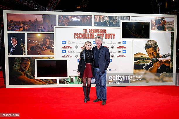 Farina Flebbe and her father HansJoachim Flebbe attend the 'Off Duty' German premiere on February 03 2016 in Berlin Germany