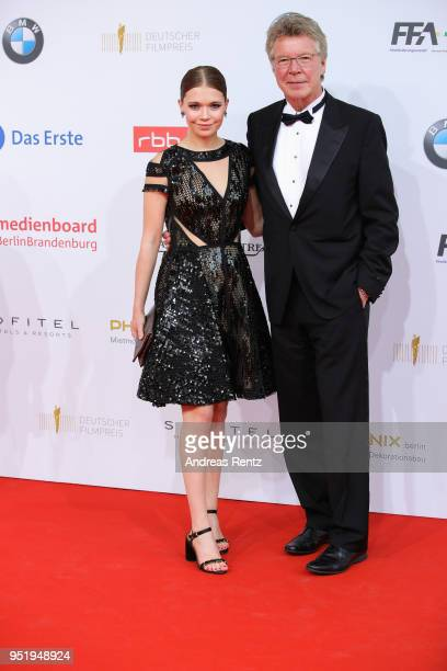 Farina Flebbe and Joachim Flebbe attend the Lola German Film Award red carpet at Messe Berlin on April 27 2018 in Berlin Germany