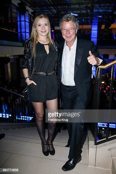 Farina Flebbe and Juergen Flebbe attend the party at the Felix club following the German premiere of the new James Bond movie 'Spectre' on October 28...