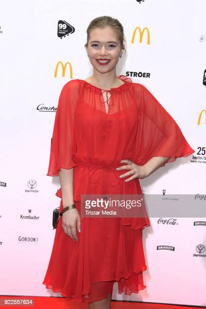 Farina Flebbe attends the 99FireFilmsAward on February 21 2018 in Berlin Germany