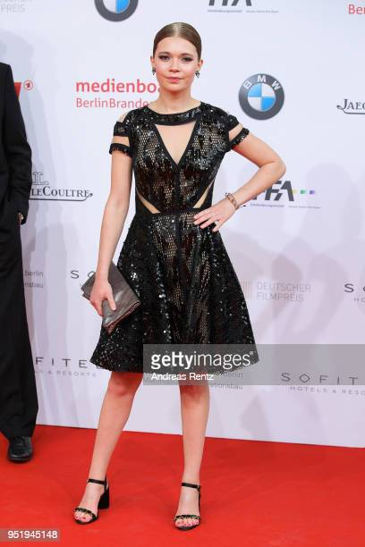 Farina Flebbe attends the Lola German Film Award red carpet at Messe Berlin on April 27 2018 in Berlin Germany