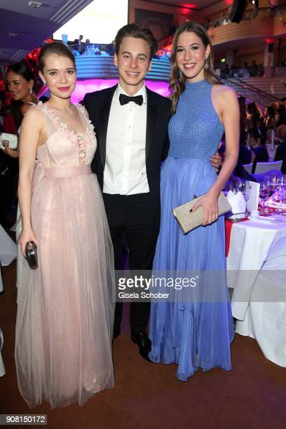 Farina Flebbe Timmi Trinks and Alana Siegel during the German Film Ball 2018 party at Hotel Bayerischer Hof on January 20 2018 in Munich Germany