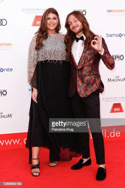 Farina Opoku and Riccardo Simonetti during the 46th German Film Ball at Hotel Bayerischer Hof on January 26 2019 in Munich Germany