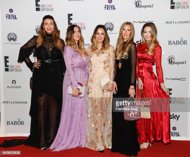 Farina Opoku Sandra Ebert Laura Noltemeyer Leslie Huhn and Caroline Einhoff attend the 'E Entertainment Influencer Suite' a red carpet live viewing...