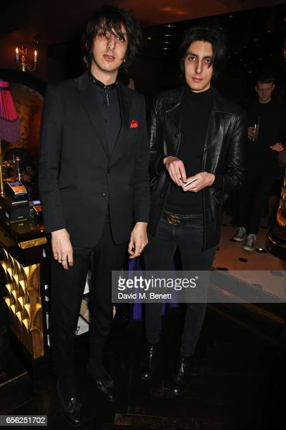 Faris Badwan attends the Another Man Spring/Summer Issue launch dinner in association with Kronaby at Park Chinois on March 21 2017 in London England
