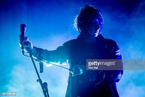 Faris Badwan of the Horrors performs at O2 Academy Brixton on November 16 2015 in London England