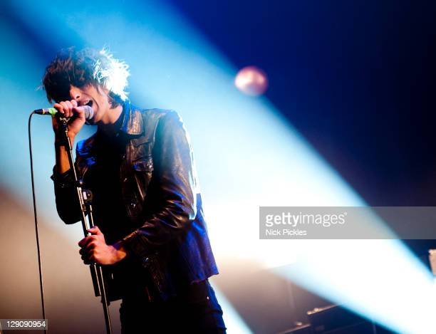 Faris Badwan of The Horrors performs at The Roundhouse on October 12, 2011 in London, England.