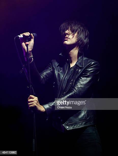 Faris Badwan of The Horrors performs on Day 3 of the Reading Festival at Richfield Avenue on August 24, 2014 in Reading, England.