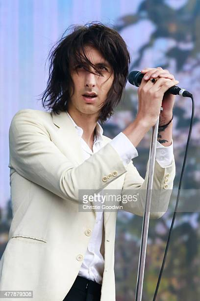 Faris Badwan of The Horrors performs on stage on day 2 of British Summer Time 2015 at Hyde Park on June 20 2015 in London United Kingdom