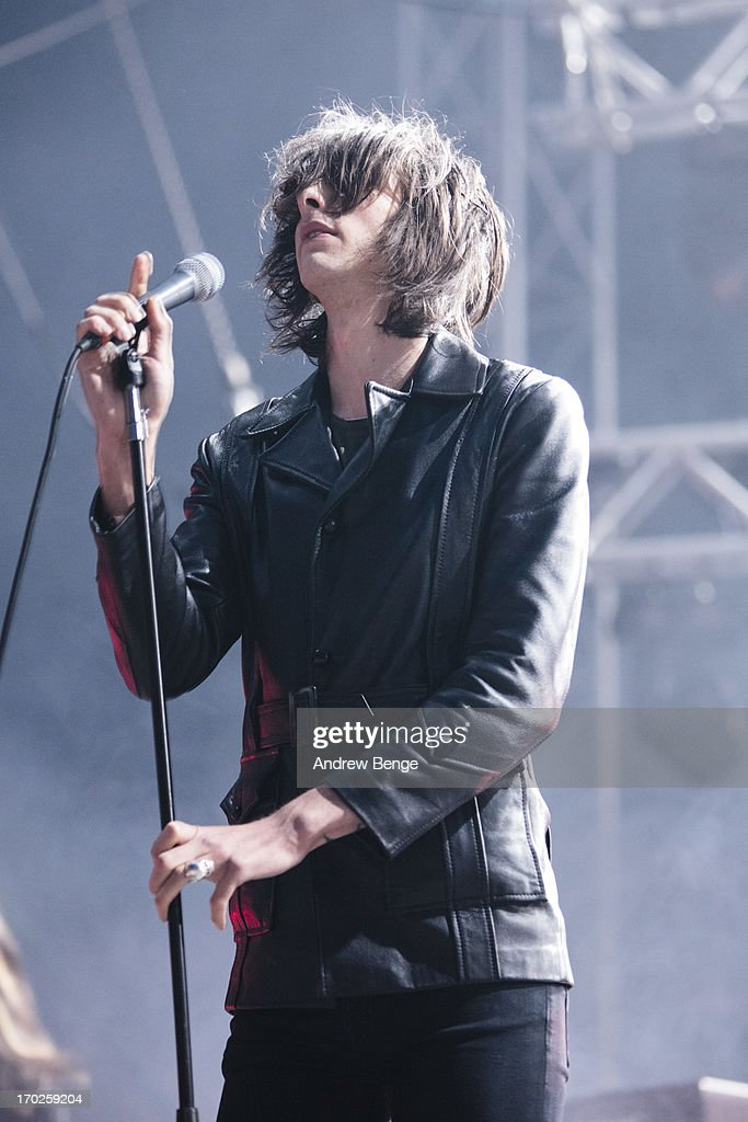 Faris Badwan of The Horrors performs on stage on Day 2 of Park Life Festival 2013 at Heaton Park on June 9, 2013 in Manchester, England.