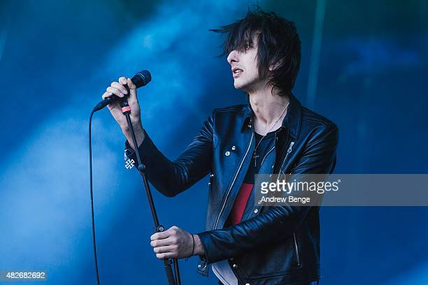 Faris Badwan of The Horrors performs on the Main Stage at Kendal Calling Festival on August 1, 2015 in Kendal, United Kingdom.