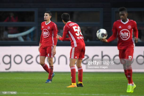 Faris Hammouti of Almere City Anwar Bensabouh of Almere City during the Dutch Keuken Kampioen Divisie match between Almere City v FC Volendam at the...